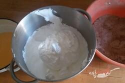 Príprava receptu Kinder Pingui v tvare rolády, krok 3