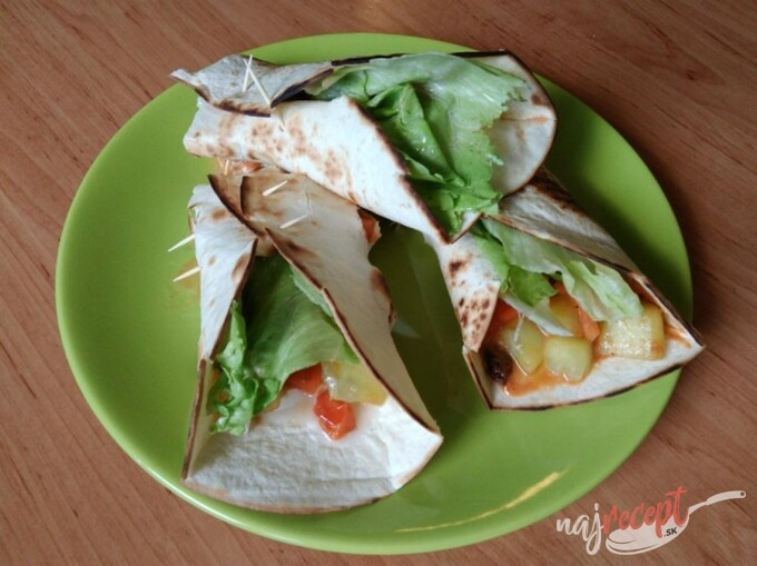 Recept Vegetariánske tortilly
