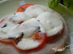 Recept Pizza - Falošná Margherita
