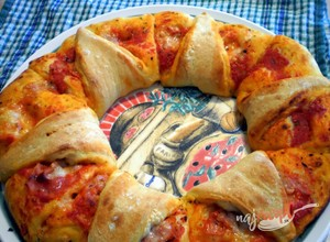 Recept Pizza veniec