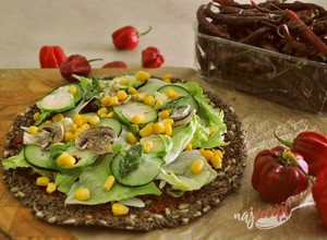 Recept Raw pizza