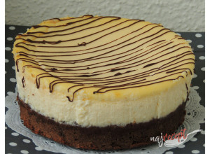 Recept Brownie + Cheesecake torta